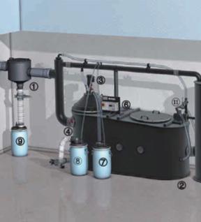 油水分离器安装示意图