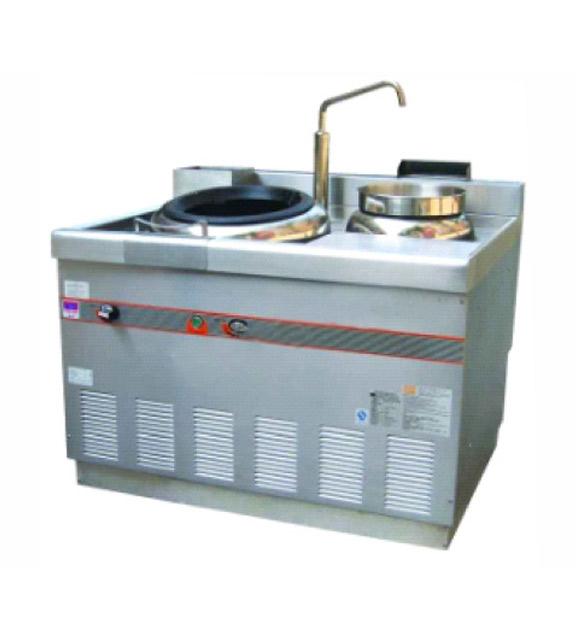 燃气环保轻型广东式炒炉(电磁安全开关)