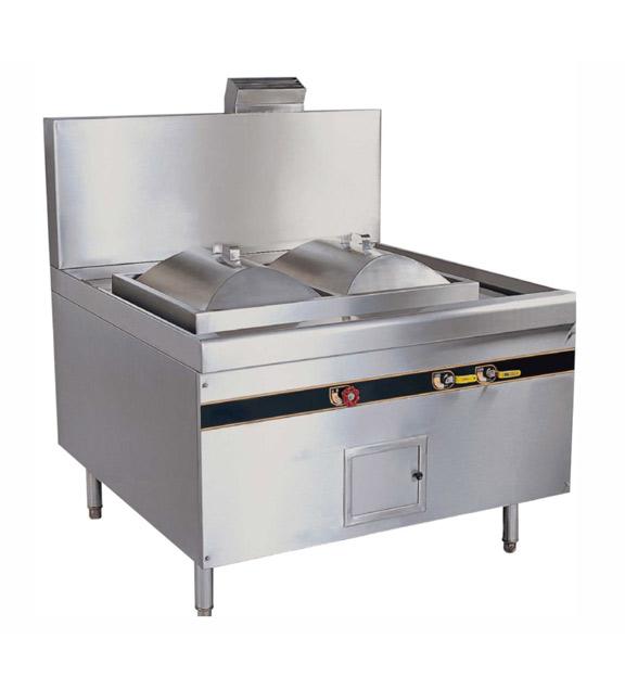 燃气环保双格肠粉炉(电磁安全开关)